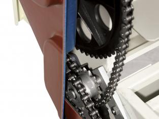 Професионално странично задвижване на машината чрез верига и ремък